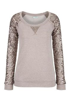 Sequin Sleeves!!  I'm in Love!  I can dress this up or down!