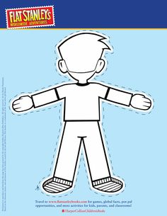 Flat stanley project templates lots of different flat for Cut out character template
