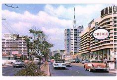 Calle Real de Sabana Grande, actual Boulevard - Caracas años 60 . Venezuela.