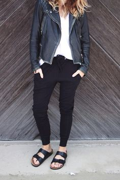 Birks + Leather #style #fashion