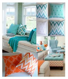 A walk through the different colour palettes used to create coastal/beach themed home decor and inspiration behind some of ZAHAARA Sanctuary's much loved Turquoise geometric cushion covers.