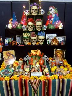 Mexico - Day of the Dead Ofrendas  - for more of Mexico, visit www.mainlymexican... #Mexico #Mexican #altar