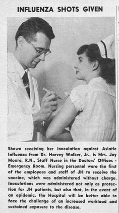 One of the First No-Cost Flu Shot Vaccinations.