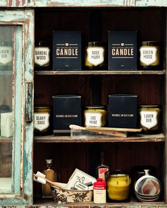 Izola's retro packaging for candle pots,  Go To www.likegossip.com to get more Gossip News!