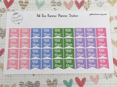 Bill Due Planner Page Flags