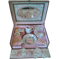 Antique French Toilette/Vanity Presentation Box for French Fashions or from au-nain-bleu on Ruby Lane
