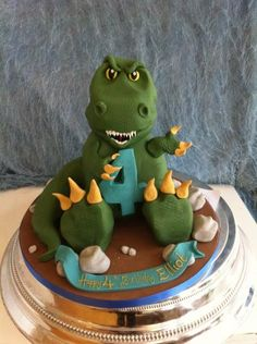 Based in Urmston, Manchester, Richards Cakes create stunning cakes for all occasions. Dinosaur Cakes For Boys, Dinosaur Cake Pops, Dino Cake, Dinosaur Birthday Cakes, 4th Birthday Cakes, Dragon Birthday, Dinosaur Party, Bolo Thor, Dinasour Cake