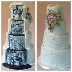 Comic wedding cake - Batman Wedding - Ideas of Batman Wedding - Comic wedding cake wedding cake Batman Wedding Archives Gamer Wedding Cake, Superhero Wedding Cake, Batman Wedding Cakes, Marvel Wedding, Comic Book Wedding, Floral Wedding Cakes, Amazing Wedding Cakes, Fall Wedding Cakes, Wedding Cake Toppers