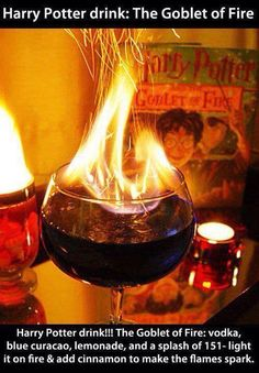 Harry potter and the goblet of fire drink!!! Potterhead