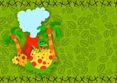 Convite Dinossauro Cute 2