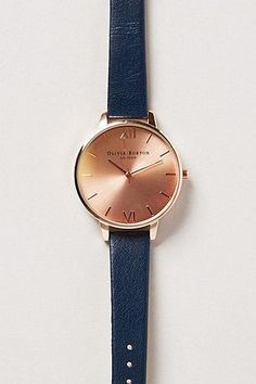 Big Dial Navy Rose Watch /
