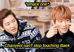that fall into his lap wasn't even an accident; I can understand wanting to touch Baekhyun all the time though, really I understand