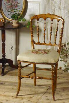 アンティーク ナポレオンチェアー(ローズ)B  French Antique Napoleon Chair