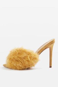 ROA Faux Fur Mule Sandals