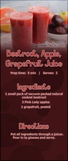 Beetroot, Apple & Greapfruit Juice Recipe