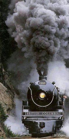 Railways ©: Railways in British Columbia, Canada Rail Train, Train Art, Train Tracks, Train Rides, Old Steam Train, Abandoned Train, Old Trains, Train Pictures, Steam Engine