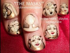 Persona Masks - Unique Jungian Nail Art Designs by Robin Moses