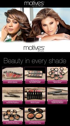 Motives for La La.  Mineral makeup made for Latina/African-American women, but anyone can use it.  Love it!