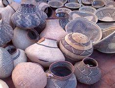 African baskets | Gourd-shaped, made of ilala palm by BaTonga women in Zimbabwe. Concept by www.designafrika,co.za