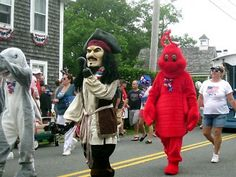 An interesting assortment of characters marched in Chatham's annual of July parade. Photo by Pat Brooks. 4th Of July Parade, Characters