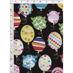 Fun, quirky and colorful balloons are ready for the party, as shown here on a black backdrop! www.americasbestthreads.com