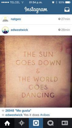 The sun goes dow