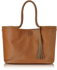 Tory Burch Taylor Saddle Pebble Leather Tote Bag