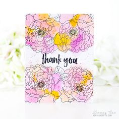 Thank You Card by Keeway Tsao for Papertrey Ink (May 2017)
