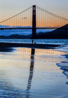 Golden Gate Bridge at sunset, San Francisco  (by Ron Diel)