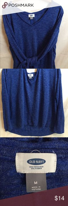 Beautiful Sapphire Blue Light Weight Sweater Long Sleeve V-Neck High Low At Waist. Worn One Time ❣EUC❣ Old Navy Sweaters V-Necks