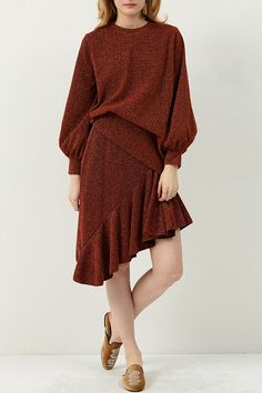 Joan Skewed Bling Skirt Discover the latest fashion trends online at storets.com  #burendyskirt #blingskirt #glittersskirt
