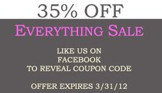 35% Off Everything coupon code on www.facebook.com/... buythepiece