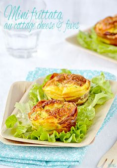 Mini frittata with cottage cheese & beans