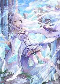 Re Zero Kara Hajimeru Isekai Seikatsu,Anime,Аниме,bai qi-qsr,emilia (re zero)