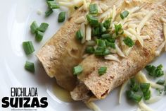 I have mentioned my love of Enchilada Suizas before…it's a Chicken Enchilada with Swiss cheese...