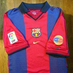 2000-2001 FC Barcelona Home Jersey // Primera equipació del FC Barcelona per a…