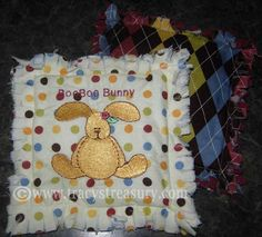 Make your own cold pack for owies!  The BooBoo Bunny will bring back the smiles in no time!  Boo Boo Butterfly for kids... so cute!!! DIY Tutorial for a slushy ice pack with a cute rag quilt cover.