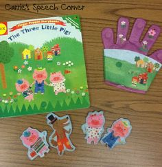 "Carrie's Speech Corner Book of the Week:  ""The Three Little Pigs.""  Misc. activities to accompany the story."