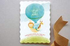 Cloud Nine Baby Shower Invitations by robin ott design at minted.com