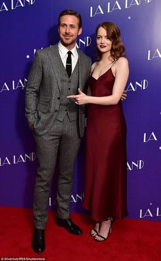 Award season buzz: Earlier this week, Emma and Ryan were greeted by news that their film had swept the nominations for the BAFTAs. Cute Celebrities, Celebs, Celebrity News, Celebrity Style, Party Like Gatsby, Ryan Gosling, Wedding Suits, Star Fashion, Cute Couples