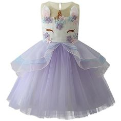 1ba77365f3 If you have a unicorn obsessed daughter, she will love this unicorn tutu  dress!