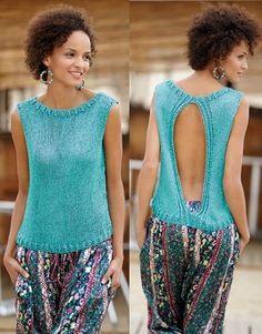 blusas tejidas en dos agujas modernas elegantes