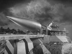 """Model of the """"Space Ark"""" rocket ship from the sci-fi classic, When Worlds Collide, Heavy Metal, Classic Sci Fi Movies, Sci Fi Ships, Rocket Ships, Rocket Power, Escape Velocity, Sf Movies, Sci Fi Spaceships, Sci Fi Films"""