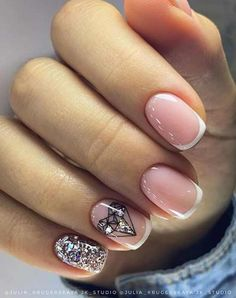 Easy to try nail trends, look here is enough - Page 24 of 140 - Inspiration Diary May Nails, Hair And Nails, White Nails, Pink Nails, Precious Nails, Indigo Nails, Diamond Nails, Types Of Nails, Gorgeous Nails