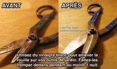 L'Astuce Magique Pour Enlever la Rouille sur les Outils.