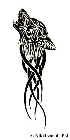 Wolf Tattoo by Nikki-vdp.deviantart.com