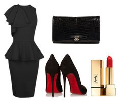 """""""Untitled #852"""" by sinclair1995 ❤ liked on Polyvore featuring Christian Louboutin, Yves Saint Laurent and Chanel"""