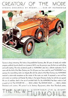 Hupmobile Advertising (1929)- Art by Bernard Boutet de Monvel (1881-1949) http://en.wikipedia.org/wiki/Bernard_Boutet_de_Monvel https://www.flickr.com/photos/autohistorian/7524207352/in/photostream/