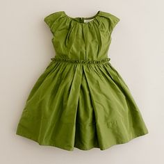 JCrew Joliette flower girl dress in organic green, $138.00