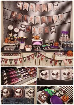 Amazing Nightmare Before Christmas party! See more party planning ideas at CatchMyParty.com!